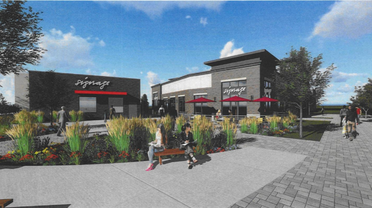 A Rendering Of The Proposed Redevelopment Wld Bill S Sports Saloon In Maple Grove
