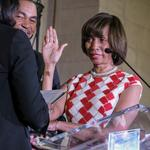 Pugh sworn in as mayor, vowing to grow businesses, focus on neighborhoods (Video)