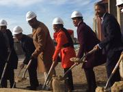 D.C. Mayor Muriel Bowser (second from right) says 25-acre redevelopment holds special significance for her.