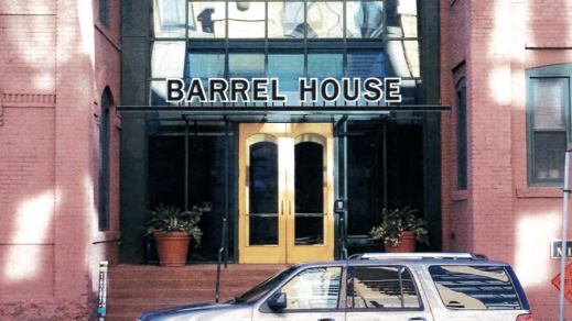 A Rendering Of The Barrel House Sign, Which Would Re Brand The Mill Place