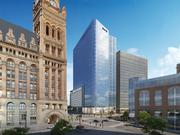 The BMO Harris tower will be built across the street from City Hall.
