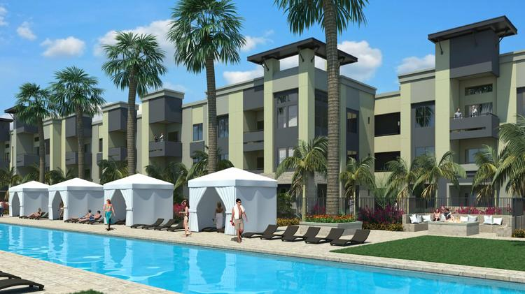 A rendering of the pool at the Aviva complex in Mesa.