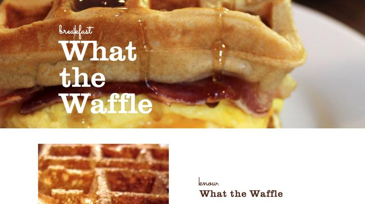 What the Waffle now is open at the Columbus Food Hub in Olde Towne East.