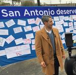 SA business community members brave cold for <strong>Nirenberg</strong> mayoral announcement