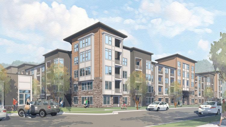 Rendering of the proposed Flats at 540 apartments in Apex that are expected to be opening in fall 2017.