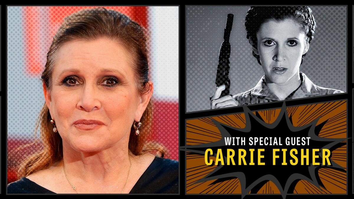 Carrie fisher onscreen a princess and general for Carrie fisher home