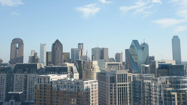Dallas skyline photographer in November 2016 from the top of the Residences at the Stoneleigh