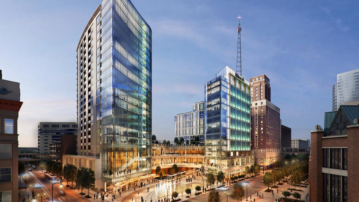 Marcus Unveils Plans For Hilton Expansion Apartment Tower At Key Downtown Site Milwaukee Business Journal