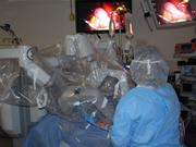 A patient undergoes robot-assisted surgery at Overland Park Regional Medical Center.