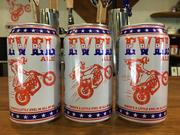 A close look at South Austin Brewey's Evel Ale. Managing Partner Martyn Buffler is working with the Evel Knievel Museum and members of the late daredevil's family on the beer brand.