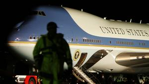 Air Force One stands at Kingsford Smith Airport after the arrival of U.S. President George W. Bush on day three of the Asia-Pacific Economic Cooperation ( APEC) meeting in Sydney, Australia, on Tuesday, Sept. 4, 2007. A plan by U.S. President George W. Bu