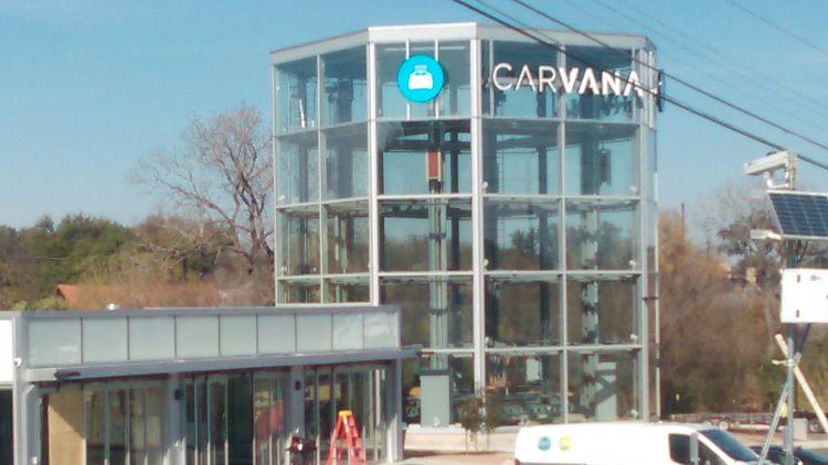 Is Carvana building a car vending machine in Austin? See for