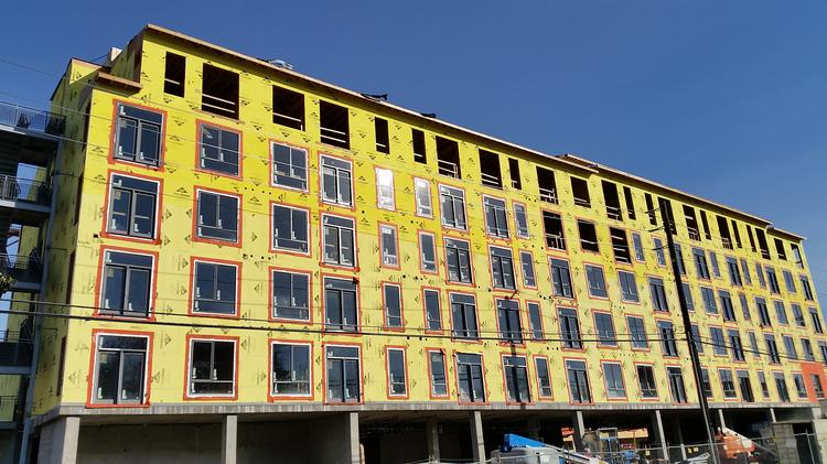 One Of Two Apartment Buildings For The Ice Blocks Project In Midtown  Sacramento. New Apartments