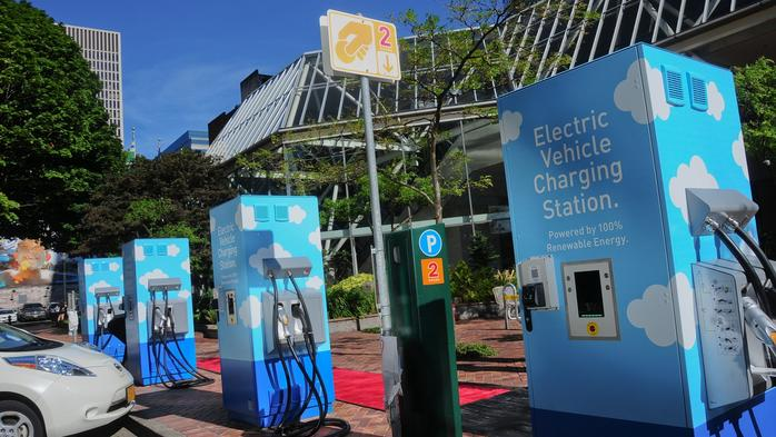 Fees coming for EV charging at Portland's Electric Avenue