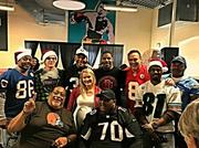 Current and former NFL players were on hand on Christmas providing meals to the homeless through the efforts of the Nick Lowery Youth Foundation.