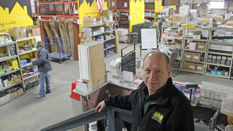 Community Warehouse CEO Nick Ringger in the nonprofit's Ninth Street store in Milwaukee