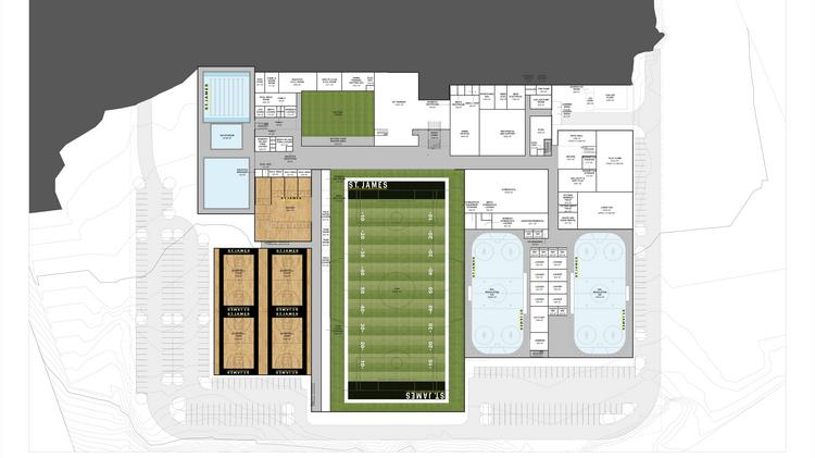 The site plan for the st james sports wellness complex planned the field level of the st james sports amp wellness complex in springfield will malvernweather Gallery