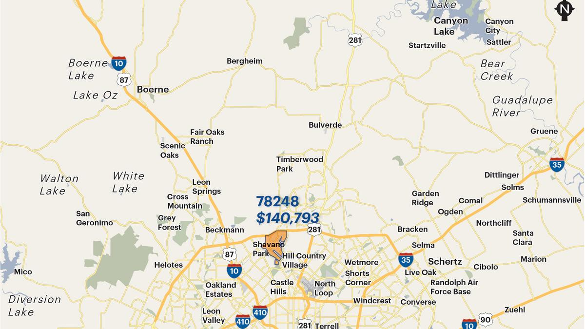 San Antonio Areas Wealthiest ZIP Codes By Average Household - Us zip codes ranked by income