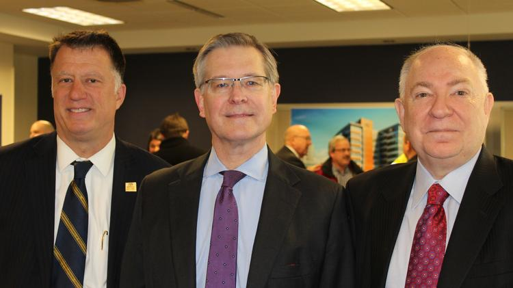 Medical College of Wisconsin dean Dr. Joseph Kerschner (left), president Dr. John Raymond (center) and board chair Steve Roell at an event earlier this year.