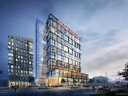 A view of the proposed two-building complex at Broad and Spring Garden streets in Philadelphia.
