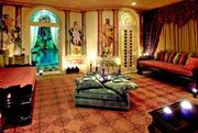 The hookah room in the former Versace mansion.