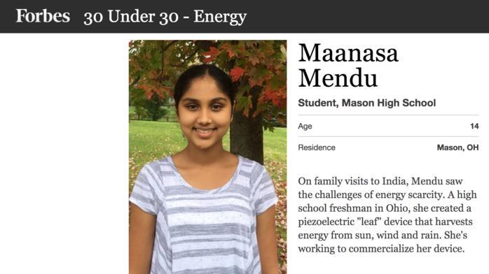 Mason student lands on Forbes 30 Under 30 list