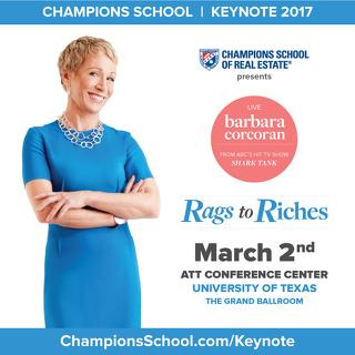 RAGS TO RICHES: AN UNFORGETTABLE EVENING WITH BARBARA CORCORAN