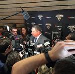 Doug Marrone introduced as head coach; Coughlin Exec VP Football Ops