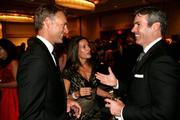From left, Paul Dyck, senior vice president at Apco Worldwide; wife Jennifer Millerwise Dyck; and Kevin Madden, executive vice president at JDA Frontline, attend the Ambassadors Ball at the JW Marriott in D.C. on Sept. 11. The annual gala raises money for multiple sclerosis research.