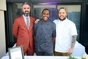 From left, Justin Marshall, Tyler Jenifer and chef Brendan L'Etoile of Chez Billy.