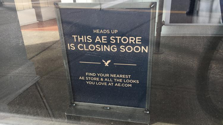 Sign In The Window Of American Eagle Outfitters Store At SouthSide Works
