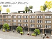 The David Building could be converted to a mixture of housing and retail development under the Fire Blocks District plan. The 96,000-square-foot building could also have a rooftop green space.