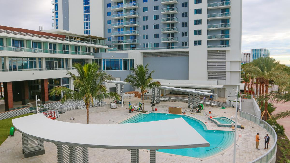 Take A Sneak K Of The Wyndham Grand In Clearwater Opening This Week Video Tampa Bay Business Journal