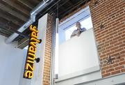The sign outside Galvanize, located at West 11th Avenue and Speer Boulevard.