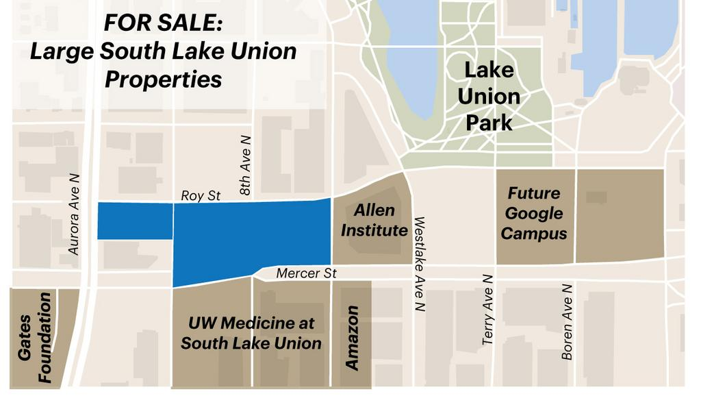 Amazon South Lake Union Campus Map.City Of Seattle Picks Team To Sell Off Large South Lake Union