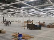 Construction crews are busy on Ikea's first Central Ohio store, which is on track for a summer opening.