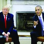 Presidents Obama and Trump: Hail to the chiefs