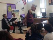 Chante Goodwin, NFTE alum and founder of Your Way IT Solutions, spoke to students.