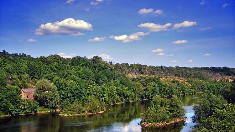 Lehigh River near Slatington, Lehigh County–Northampton County line.