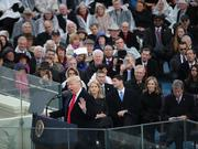U.S. President Donald Trump speaks during the 58th presidential inauguration in Washington, D.C., U.S., on Friday, Jan. 20, 2017.  Photographer: Andrew Harrer/Bloomberg