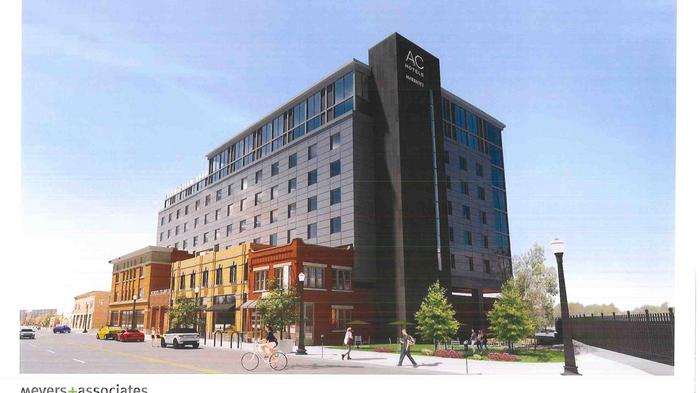 RENDERINGS: Continental Real Estate showing revised plans for 8-story hotel near North Market