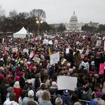 Women's march draws 3 times more to National Mall than Trump's inauguration, according to estimates