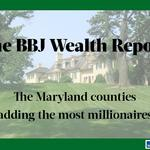 The Maryland counties with the most millionaires