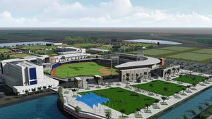 Rendering of the Atlanta Braves' proposed new spring training complex in Sarasota, Fla.