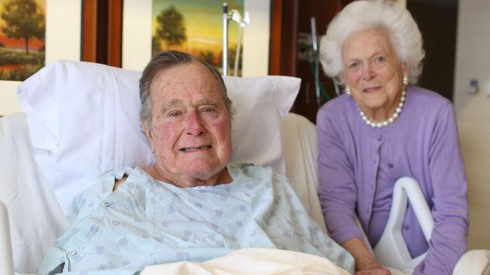 George H.W. Bush discharged from hospital