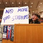 Meck commissioners hear good, bad and more on MLS stadium (PHOTOS)