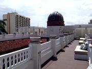 On the roof of the former Versace mansion: an observatory structure with no telescope.