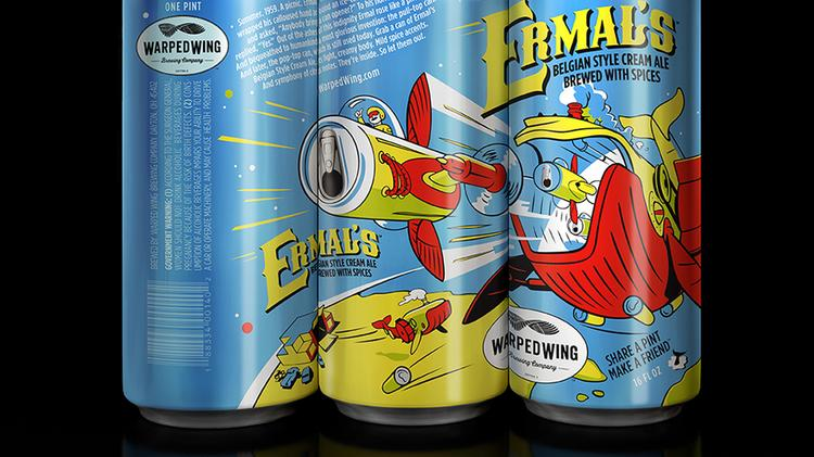Ermal's, a Belgian cream ale, was one of the brewery's first beers and is named after local engineer Ermal Fraze, who invented the pull tab opener for aluminum cans.