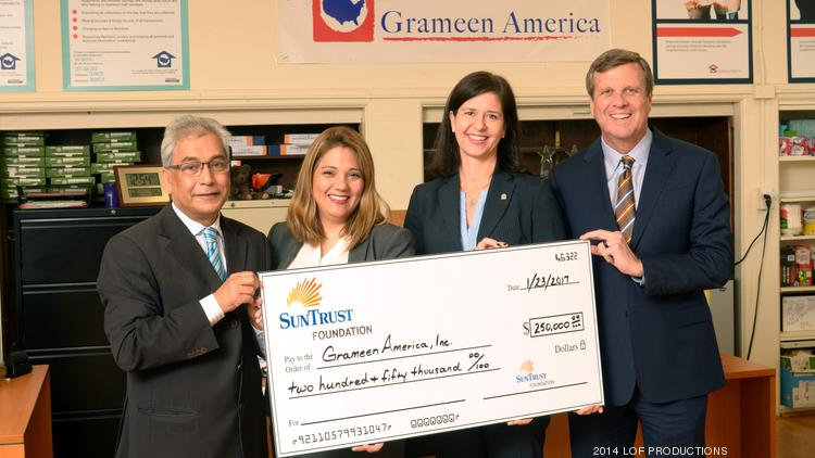 The SunTrust Foundation announced it is donating $250,000 over two years to Grameen America.