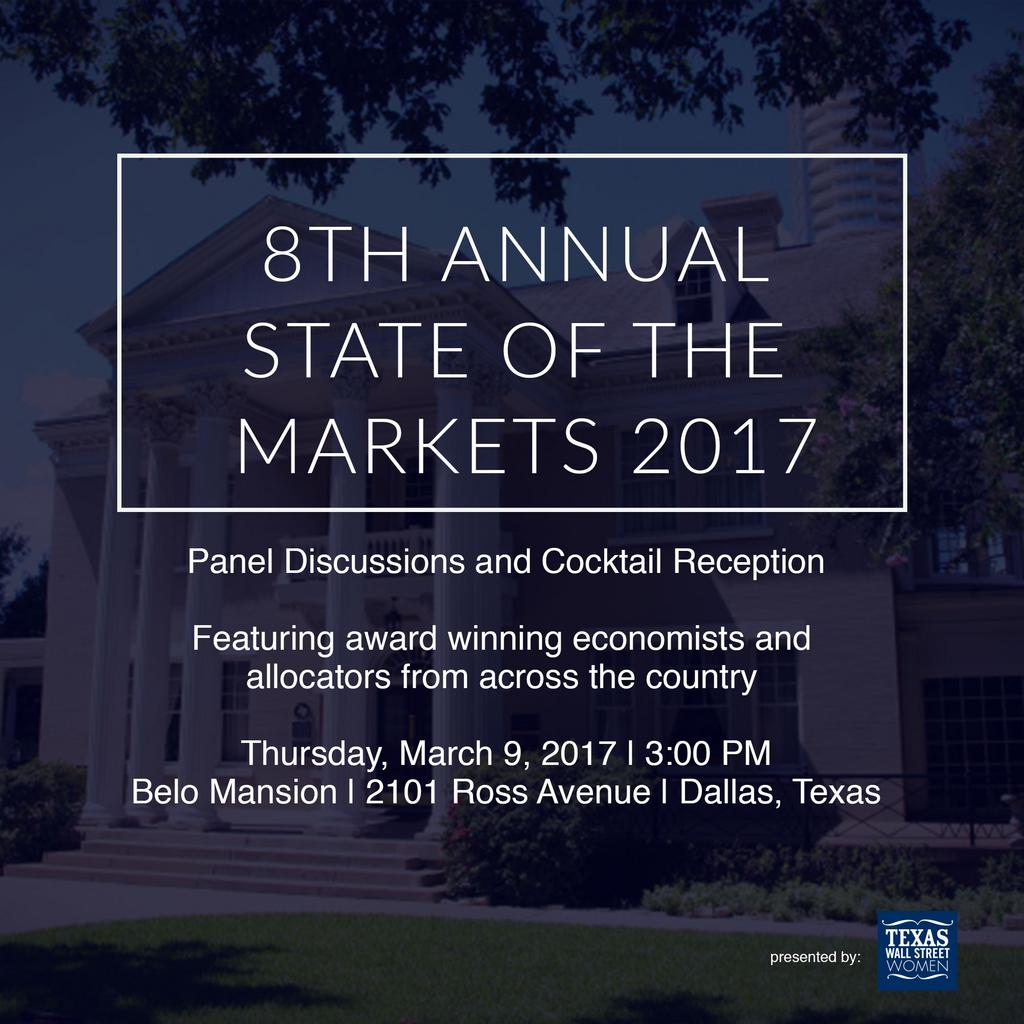 8th Annual State of the Markets 2017 Panel Discussions and Cocktail Reception